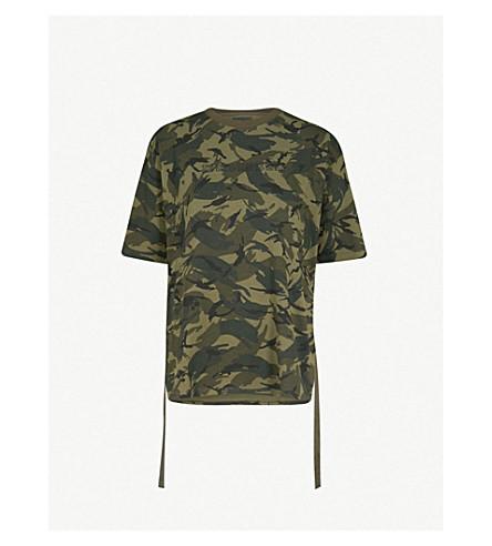 MUSIUM Camouflage-print cotton-jersey T-shirt (Green