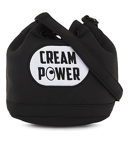 MINI CREAM Cream Power shoulder bag (Black