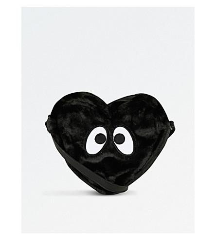 MINI CREAM Faux-fur shoulder bag (Bkx
