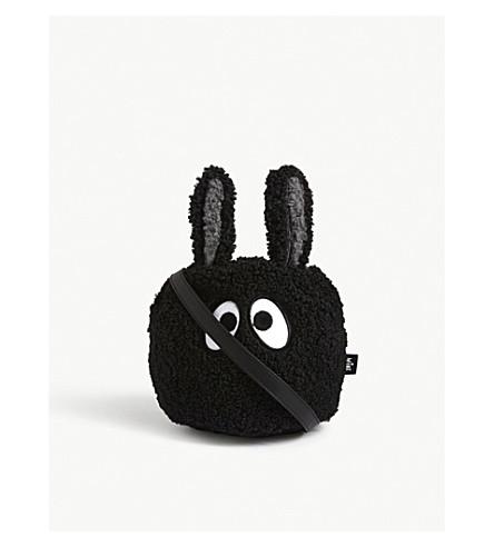 MINI CREAM Eye logo fluffy bucket bag (Bkx