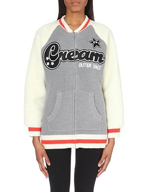 MINI CREAM I.T knitted patch cardigan