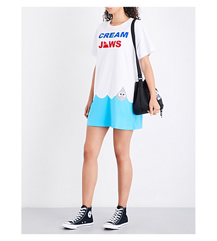 MINI CREAM Cream jaws cotton-jersey T-shirt dress (Whx