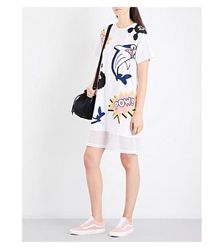 MINI CREAM Pow cotton-jersey dress (Whx