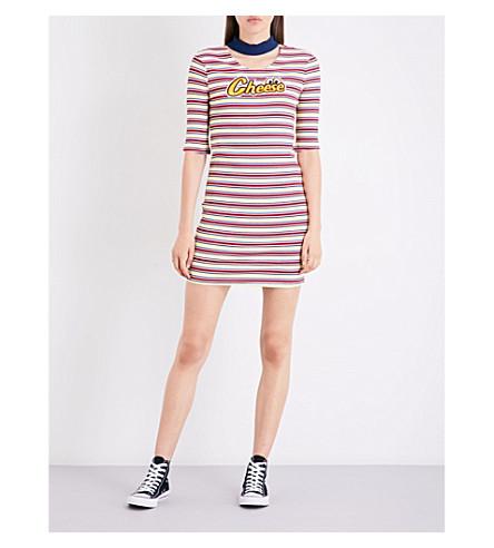 MINI CREAM Striped knitted dress (Rdx