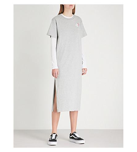 Logo cotton dress Grey MINI CREAM MINI print CREAM midi jersey qtFB4