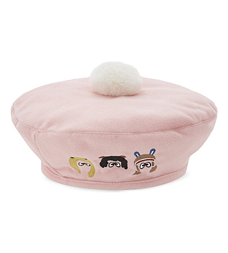 MINI CREAM Cartoon pompom beret (Pink