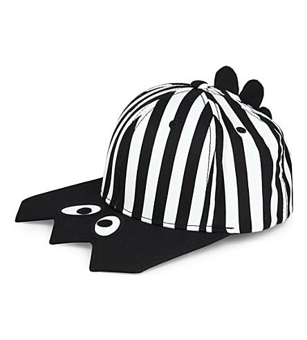 MINI CREAM Stripe cap (Black