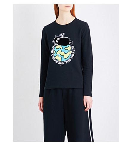 MINI CREAM Mini Cream Run The World? cotton-jersey top (Bkx