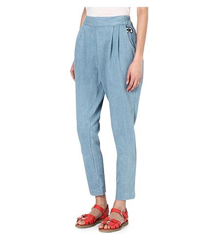 MINI CREAM I.T tapered denim trousers (Blue