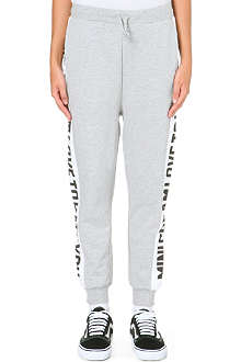 MINI CREAM I.T. Printed side-panel jogging bottoms