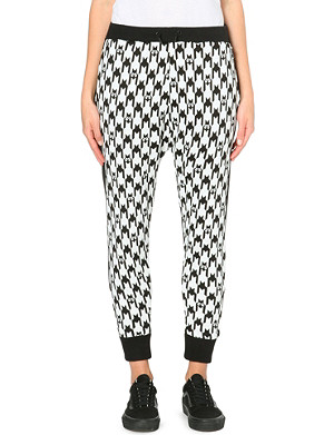 MINI CREAM Houndstooth panel sweatpants
