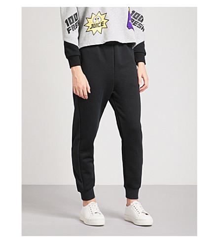 MINI CREAM Logo-print cotton-jersey jogging bottoms (Bkx