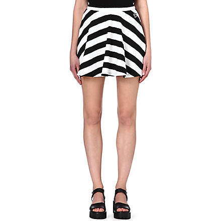 MINI CREAM I.T striped skater skirt (Black