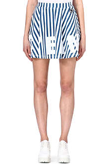 MINI CREAM I.T striped jersey mini skirt