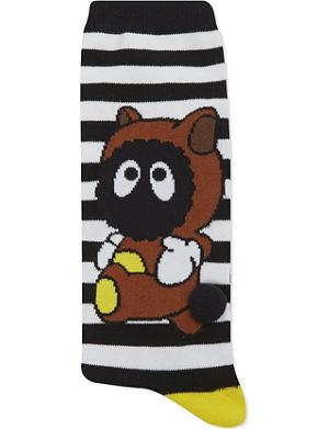 MINI CREAM Cartoon striped socks