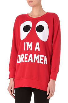 MINI CREAM I.T Big eye slogan sweatshirt