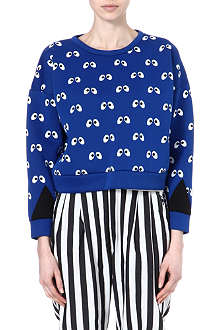 MINI CREAM I.T cartoon eyes printed sweatshirt