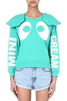MINI CREAM I.T padded-ears sweatshirt
