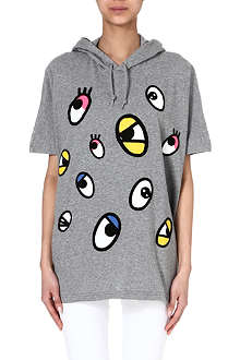 MINI CREAM Cartoon eyes hooded sweatshirt