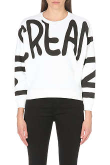 MINI CREAM I.T Oversize printed sweatshirt