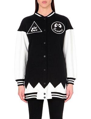 MINI CREAM Varsity cotton-jersey jacket