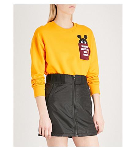 MINI CREAM Patch pocket cotton-blend sweatshirt (Orl