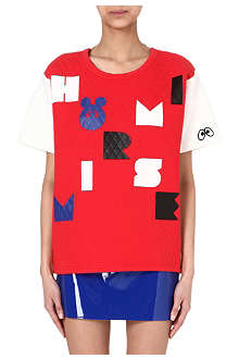 MINI CREAM I.T quilted cartoon t-shirt