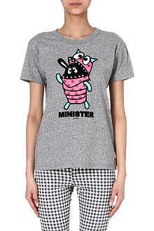 MINI CREAM Puff minister cotton t-shirt
