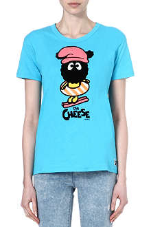 MINI CREAM I.T cartoon print cotton t-shirt