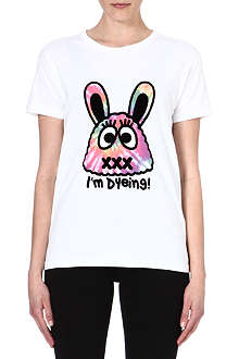 MINI CREAM I.T cotton bunny print t-shirt