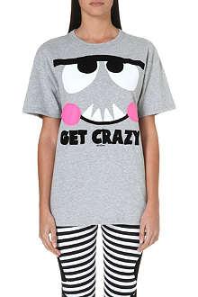MINI CREAM I.T big-eye cotton t-shirt