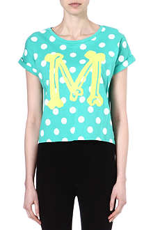 MINI CREAM I.T cotton polka dot t-shirt