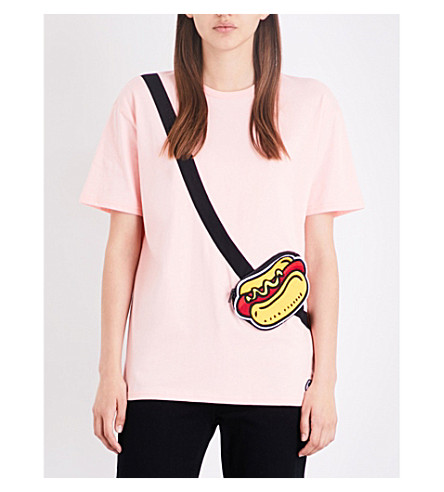 MINI CREAM Hot Dog cotton-jersey T-shirt (Pkx