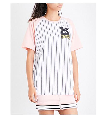 MINI CREAM Striped sports-mesh T-shirt (Pkx