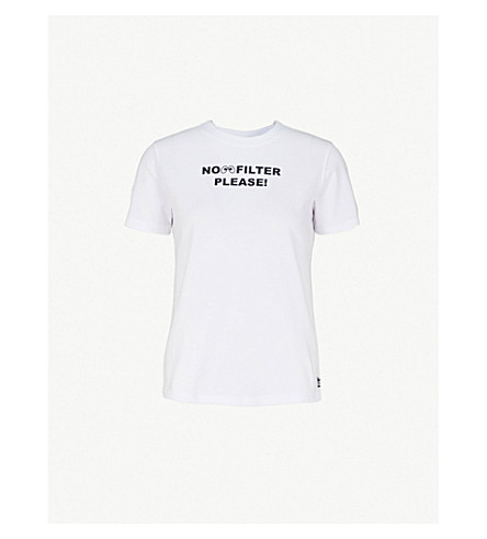 MINI CREAM Logo-print cotton-jersey T-shirt (White