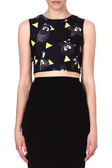 MINI CREAM I.T printed cropped top
