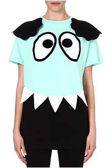 MINI CREAM I.T cartoon eyes cotton t-shirt