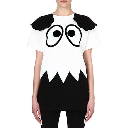 MINI CREAM I.T cartoon eyes cotton t-shirt (White