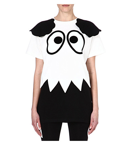 MINI CREAM I.T cartoon eyes cotton t-shirt (White