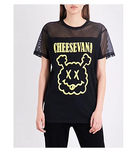 MINI CREAM Cheesevana cotton-jersey tunic (Bkx