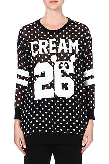 MINI CREAM I.T Polka dot long-sleeve top