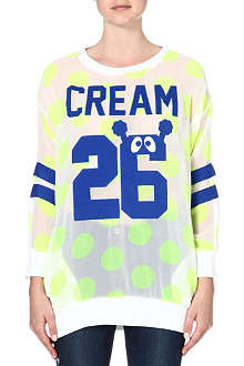 MINI CREAM I.T Neon dot long-sleeve top