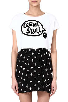 MINI CREAM I.T Creamskull crop top and dress