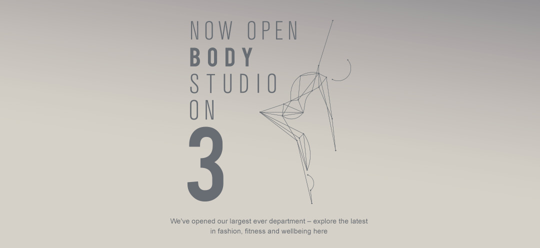 NOW OPEN: BODY STUDIO ON 3