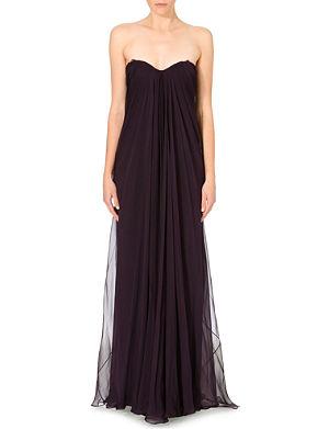 ALEXANDER MCQUEEN Draped silk-chiffon gown