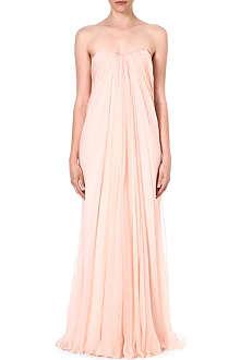 ALEXANDER MCQUEEN Bustier silk gown