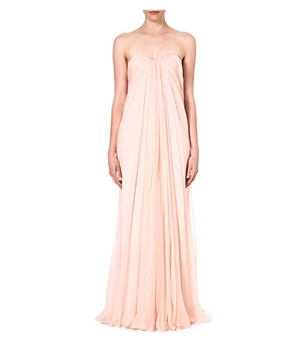 ALEXANDER MCQUEEN Bustier silk gown (Pink