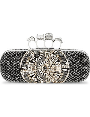 ALEXANDER MCQUEEN Beaded knuckle box clutch