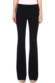 ALEXANDER MCQUEEN Leaf crepe trousers