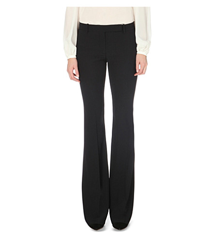 ALEXANDER MCQUEEN Slim-fit bootcut crepe trousers (Black